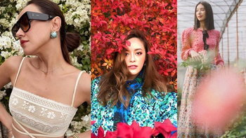 ส่องลุคของ 6 สาวสวยหลากสไตล์ พร้อมไอเดียโพสคู่กับดอกไม้สุดปัง