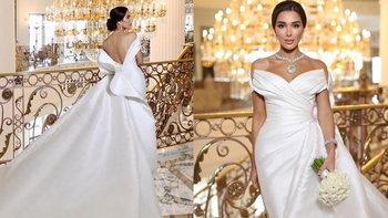 ชมความสวยชุดแต่งงานอภิมหาเศรษฐีของดูไบ พร้อมซูมเครื่องเพชรอลังการพันล้าน