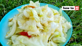 วิธีทำกะหล่ำปลีทอดน้ำปลา อาหารเช้าทำง่าย หอม กรอบ อร่อยสุด