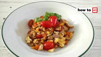 วิธีทำอกไก่ผัดไข่ เมนูอาหารทำง่าย ปรุงน้อยได้สุขภาพ