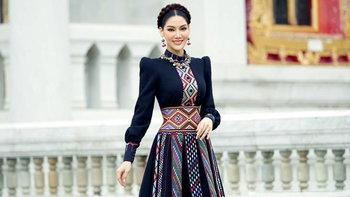 """""""พรฟ้า ปุณิกา"""" ผู้จัดการกองประกวด Miss Universe Thailand กับชุดเดรสสุดปัง"""