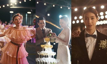 """เก็บตกความหวานและแฟชั่นดาราในงานแต่งกลางหุบเขาของ """"จ๊ะ - เอิน"""""""