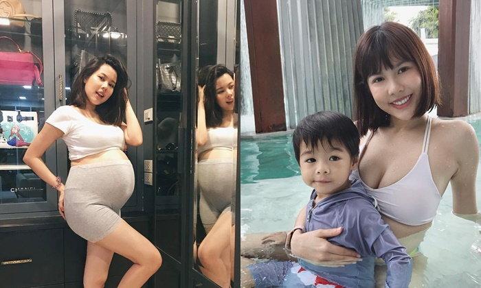 จีน่า คุณแม่ลูกสองอวดท้องโต 8 เดือนกว่า ใหญ่แค่ไหนยังสวยแซ่บได้