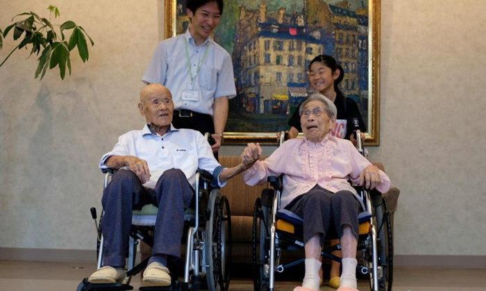 อายุยืนยาว รักยืนยง! สามีภรรยาญี่ปุ่นครองแชมป์ คู่แต่งงานอายุมากสุดในโลก