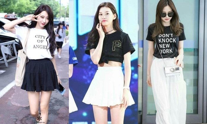 20 สไตล์ แฟชั่นสีขาว-ดำ ตามฉบับสาวเกาหลีใส่กี่ทีก็ไม่มีเอาท์
