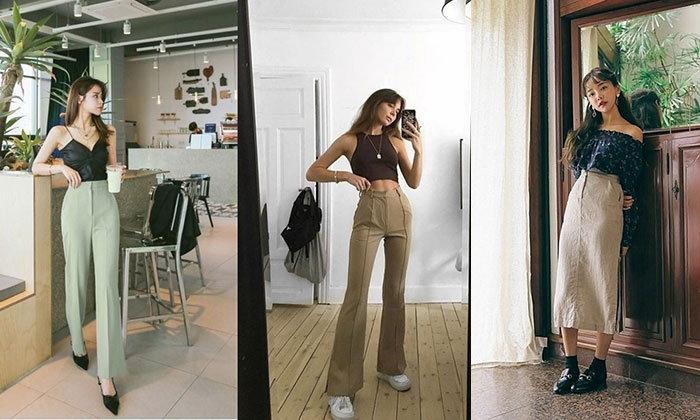 20 ไอเดียใส่กระโปรงและกางเกงเอวสูงให้ดูดี ตัวเล็กแค่ไหนก็ดูสูงได้