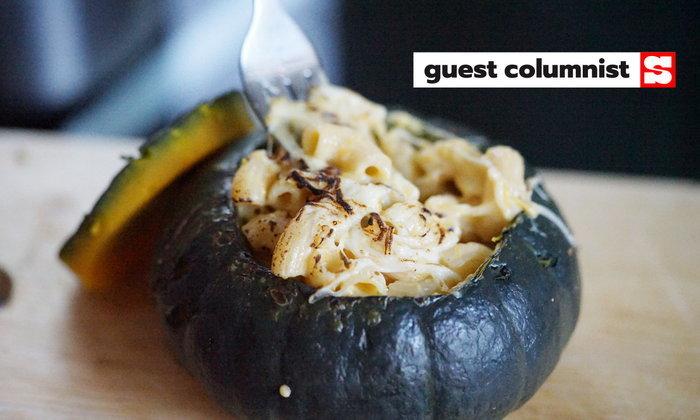 มักกะโรนีครีมซอสฟักทองอบชีส เมนูฉลองเทศกาลอร่อยได้ทั้งครอบครัว