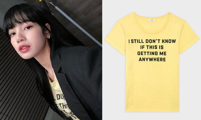 ลิซ่า BLACKPINK ในลุคเสื้อยืด จาก CELINE ดูสวยแพงมาก