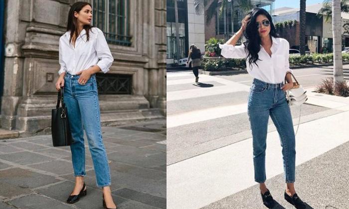 เสื้อเชิ้ตสีขาว & กางเกงยีนส์ ลุคคลาสสิกใส่ตอนไหนก็เก๋!